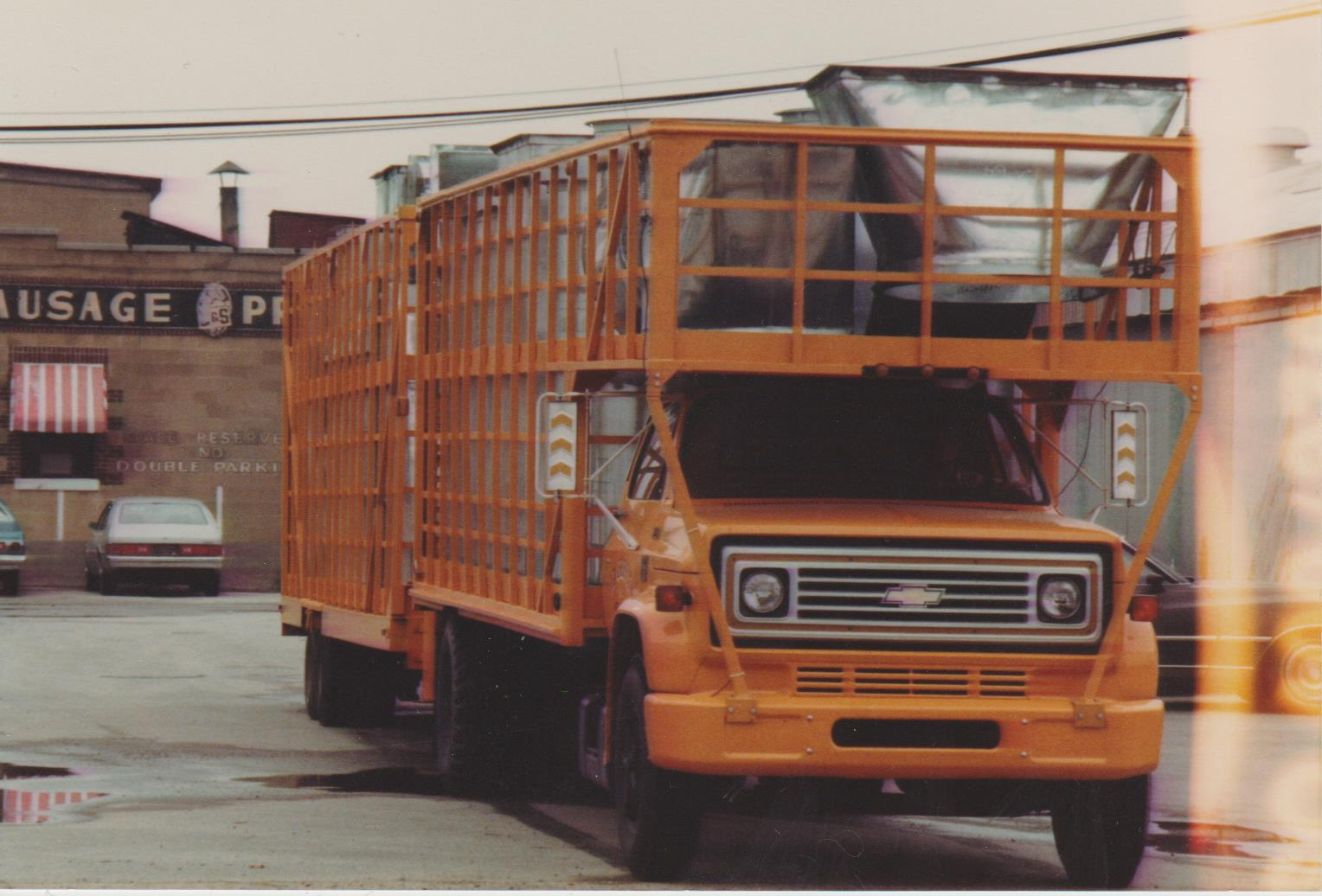 A Truck Carrying Steel Products